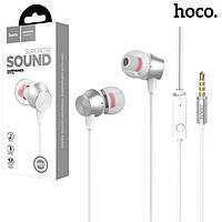 Наушники с микрофоном Hoco M51 бело-серебристые