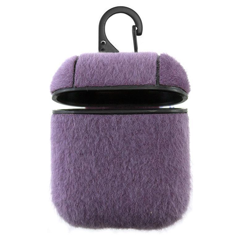 Футляр для наушников Airpod Wool фиолетовый