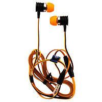 Наушники с микрофоном Celebrat S50 Super Bass оранжевые
