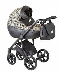 Детская коляска универсальная 2в1 Roan Bass Soft New Brown Sequins (Роан Басс, Польша)