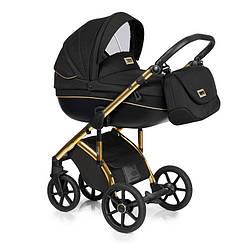 Детская коляска универсальная 2в1 Roan Bass Soft Golden line black (Роан Басс, Польша)