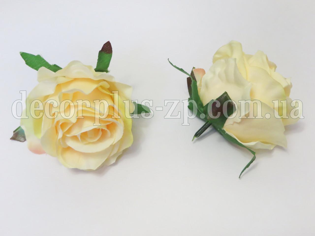 """Головка розы """"Мерседеска"""", бледно-желтая"""