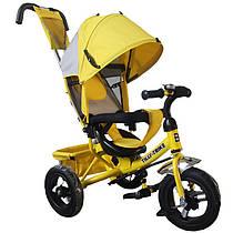 """BabyTilly Велосипед 3-х колёсный """"Tilly Trike"""" желтый с крышей"""