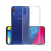 Прозрачный силиконовый чехол для Samsung Galaxy M20
