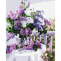 Картина по номерам Идейка - Букет сирени 2 40x50 см (КНО1074)