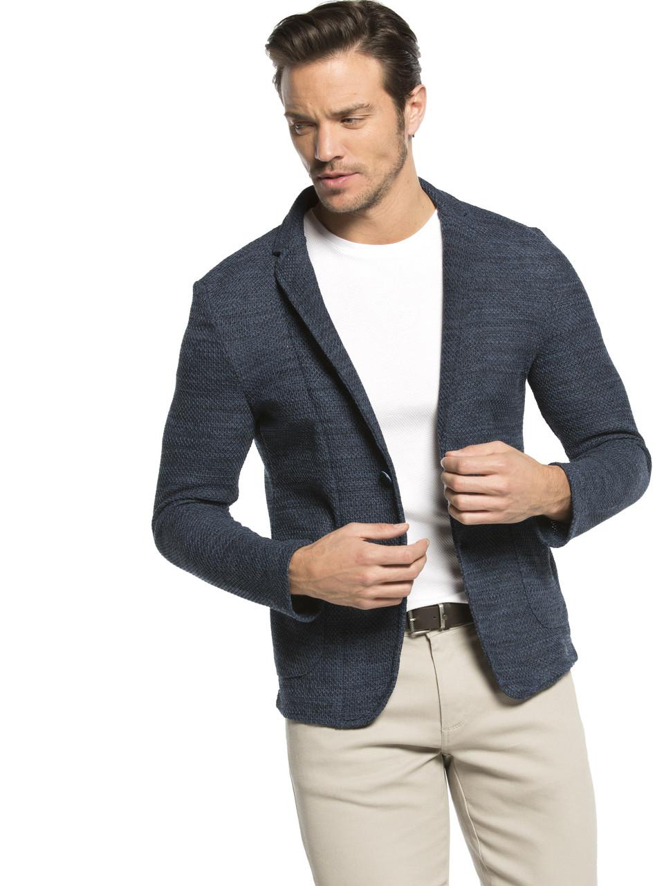 Серый мужской пиджак LC Waikiki / ЛС Вайкики с накладными карманами