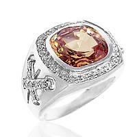 Серебряное кольцо цирконий размер 17