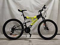 Горный велосипед Azimut Tornado 26 дюймов. Дисковые тормоза. Желтый., фото 1