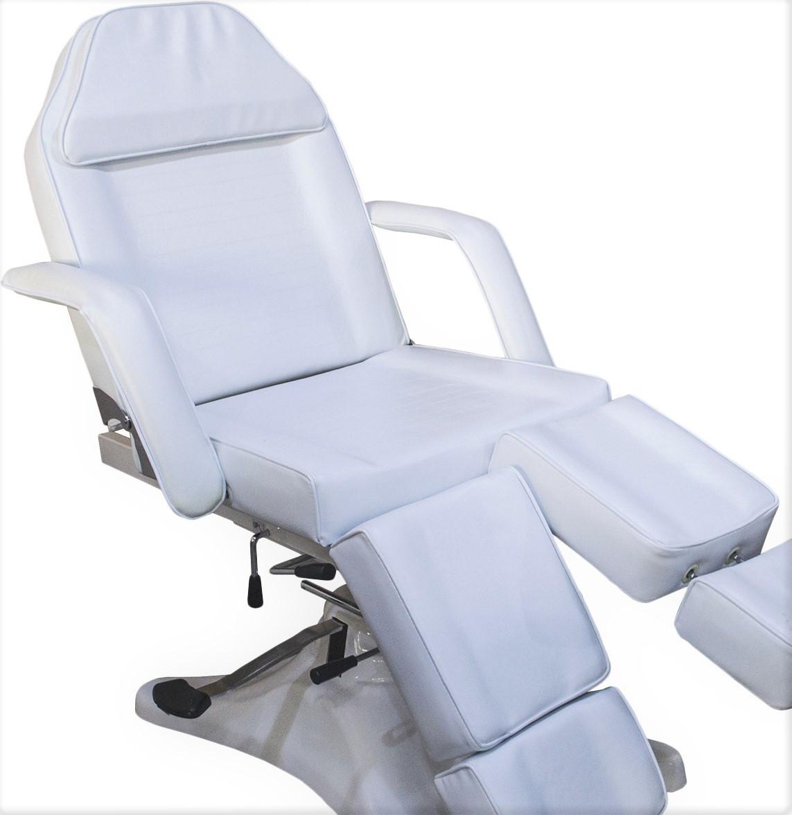 Кушетка косметологическая на гидравлике с раздельной подножкой кресло-кушетка педиюрно-косметологическая 823А