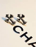 Серьги Крест / серебристый метал / Китай