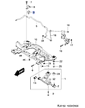 Втулка стабилизатора переднего 19мм, Лачетти вагон_ J200 (35), 96839849, GM, фото 4
