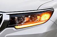 Передние фары Led тюнинг оптика Toyota Land Cruiser Prado 150 (2018+) четыре линзы