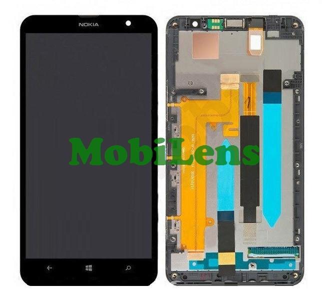 Nokia 1320 Lumia Дисплей+тачскрин(модуль) черный *в рамке