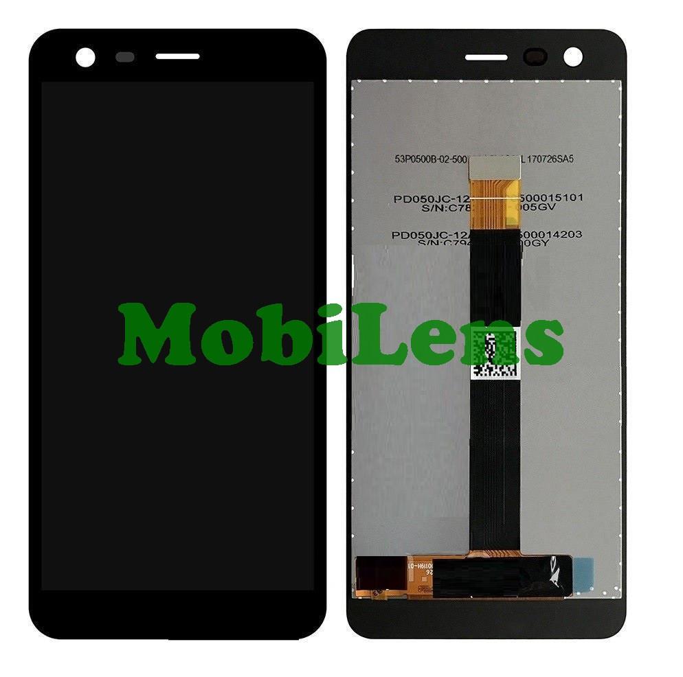 Nokia 2, TA-1007, TA-1029, TA-1035 Дисплей+тачскрин(модуль) черный