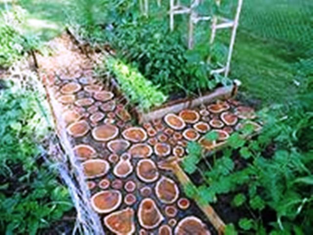 Садовая дорожка деревянная в украинском стиле с доставкой по всей Украине