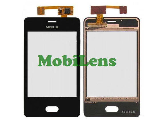 Nokia 501 Тачскрин (сенсор) черный, фото 2
