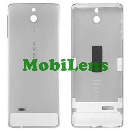 Nokia 515 Задняя крышка белая-серебристая (с боковыми кнопками), фото 2