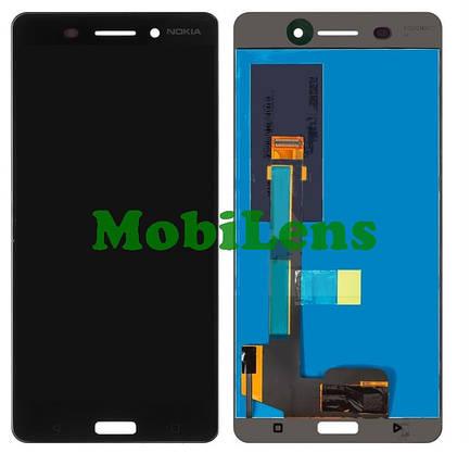 Nokia 6 Dual, TA-1000, TA-1021, TA-1033, TA-1039 Дисплей+тачскрин(модуль) черный, фото 2