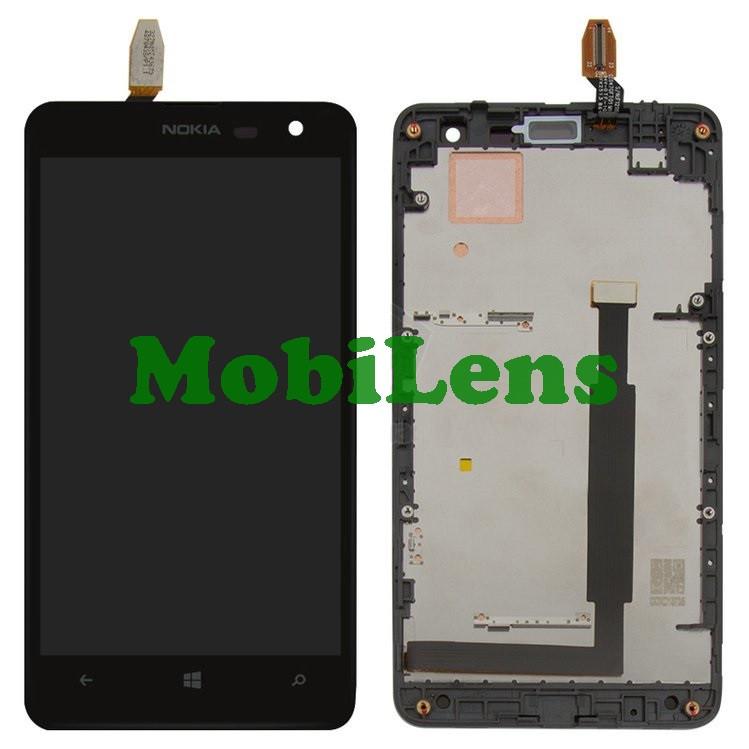 Nokia 625 Lumia, RM-943, RM-941 Дисплей+тачскрин(модуль) черный *в рамке