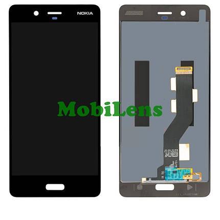 Nokia 8 Dual, TA-1004 Дисплей+тачскрин(модуль) черный, фото 2