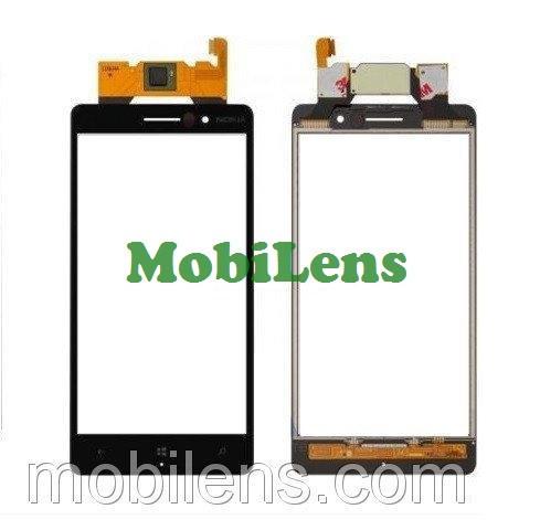 Nokia 830 Lumia Тачскрин (сенсор) черный
