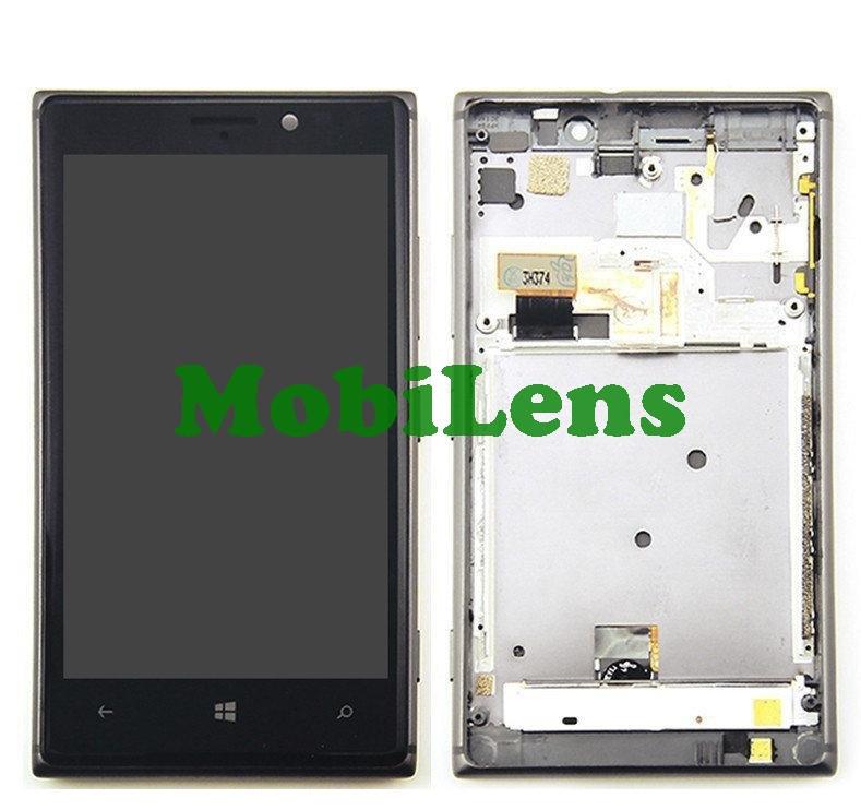Nokia 925 Lumia Дисплей+тачскрин(модуль) черный в рамке