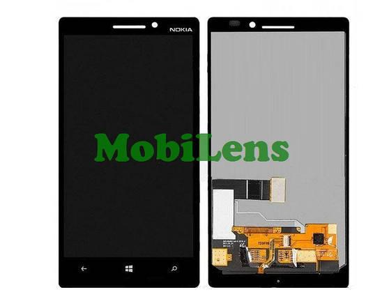Nokia 930 Lumia, RM-1045 Дисплей+тачскрин(модуль) черный, фото 2