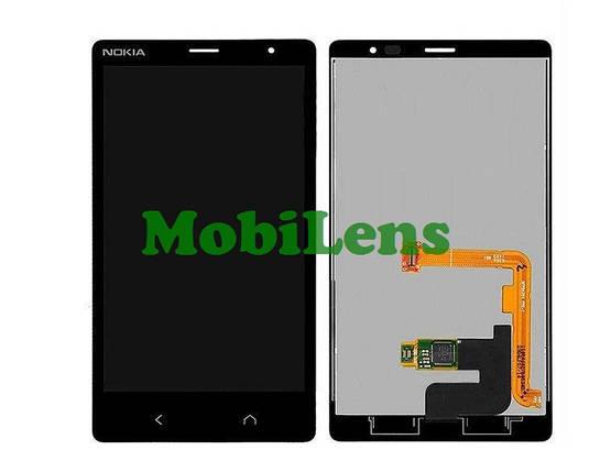 Nokia X2 Dual, RM-1013 Дисплей+тачскрин(модуль) черный, фото 2