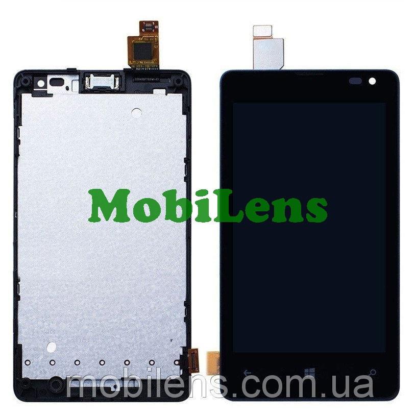 Microsoft 435 Lumia, 532 Dual, RM-1031, RM-1032, RM-1069, RM-1071 Дисплей+тачскрин(модуль) черный *в рамке