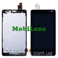 Microsoft 435 Lumia, 532 Dual, RM-1031, RM-1032, RM-1069, RM-1071 Дисплей+тачскрин(модуль) черный в рамке