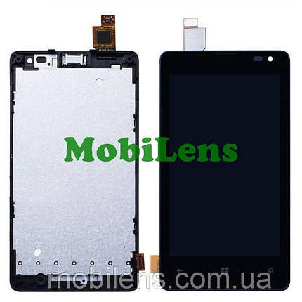 Microsoft 435 Lumia, 532 Dual, RM-1031, RM-1032, RM-1069, RM-1071 Дисплей+тачскрин(модуль) черный *в рамке, фото 2