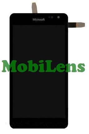 Microsoft 535 Lumia, Версия: CT2S1973FPC-A1-E, RM-1090 Дисплей+тачскрин(модуль) черный *в рамке, фото 2