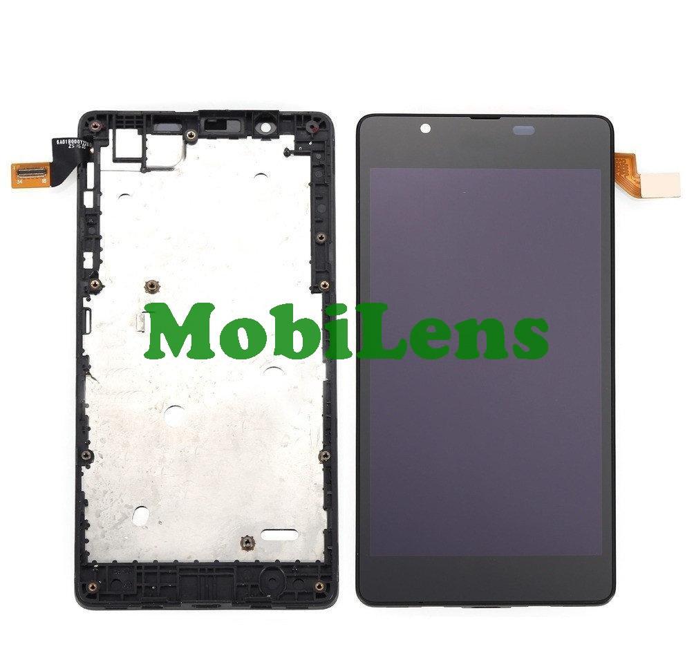 Microsoft 540 Lumia, RM-1140 Дисплей+тачскрин(модуль) черный в рамке