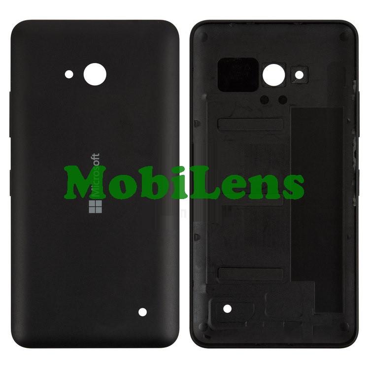 Microsoft 640 Lumia, RM-1077, RM-1072, RM-1073 Задняя крышка черная (с боковыми кнопками)