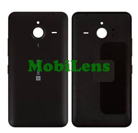 Microsoft 640 XL, RM-1062, RM-1063, RM-1064, RM-1065, RM-1066, RM-1067 Задняя крышка черная, фото 2