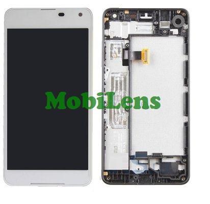 Microsoft 650 Lumia, RM-1152, RM-1154 Дисплей+тачскрин(модуль) белый *в рамке