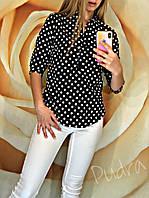 Стильная женская блузка! Цвет: черный, арт 5400