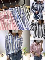 Рубашка женская в полоску, фото 1