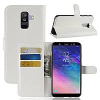 Чехол-книжка Litchie Wallet для Samsung A605 Galaxy A6 Plus 2018 Белый