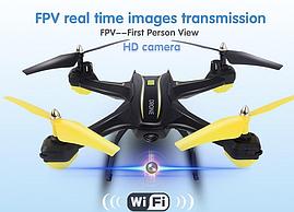 Квадрокоптер S6HW, Квадрокоптер c WiFi камерой, Беспилотник, Летающий дрон с камерой.