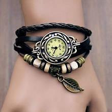 Винтажные часы-браслет с листиком
