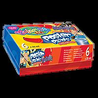"""Краски гуашевые Colorino Металлик 6 цветов 20 мл блестят в картонной упаковке """"Metallic"""""""