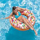 Надувной круг-тюбинг Intex 56263 Пончик с присыпкой, фото 3