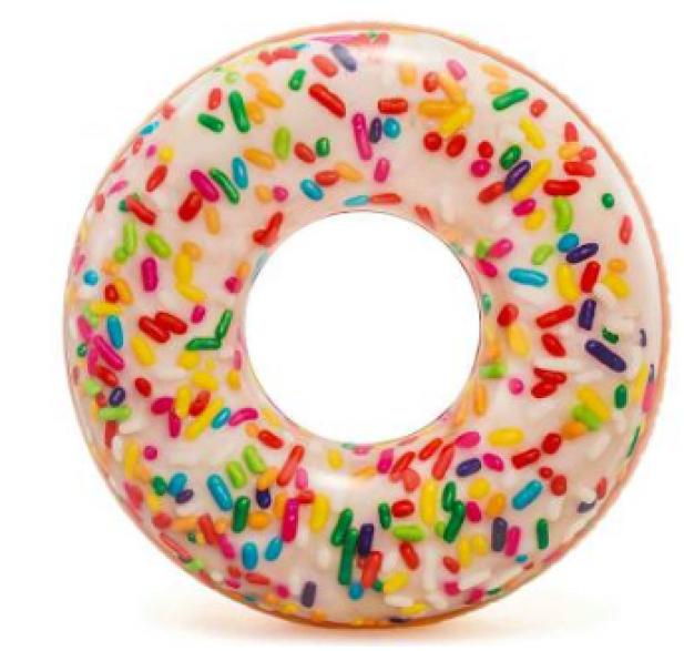 Надувной круг-тюбинг Intex 56263 Пончик с присыпкой