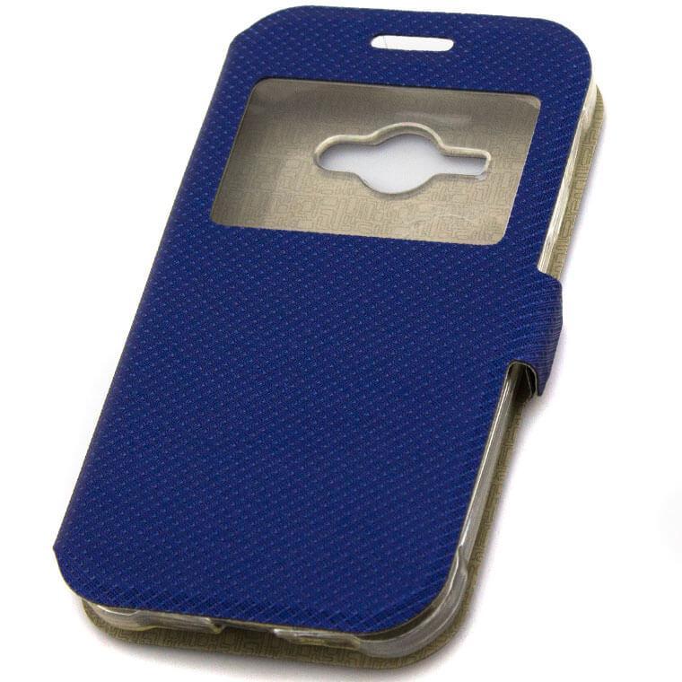 Чехол-книжка Modern 1 окно Samsung J1 Ace J110 синий