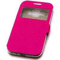 Чехол-книжка Modern 1 окно Samsung J1 2015 J100 розовый