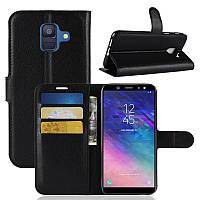 Чехол-книжка Litchie Wallet для Samsung A600 Galaxy A6 2018 Черный