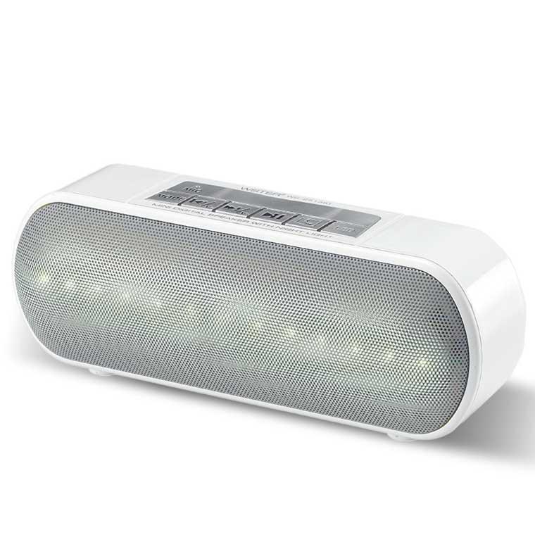 Портативная колонка WSTER WS-2513BT LED белая