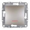 Кнопка с подсветкой самозажимные контакты Бронза Schneider Asfora plus (EPH1600169)