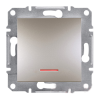 Кнопка с подсветкой самозажимные контакты Бронза Schneider Asfora plus (EPH1600169), фото 1